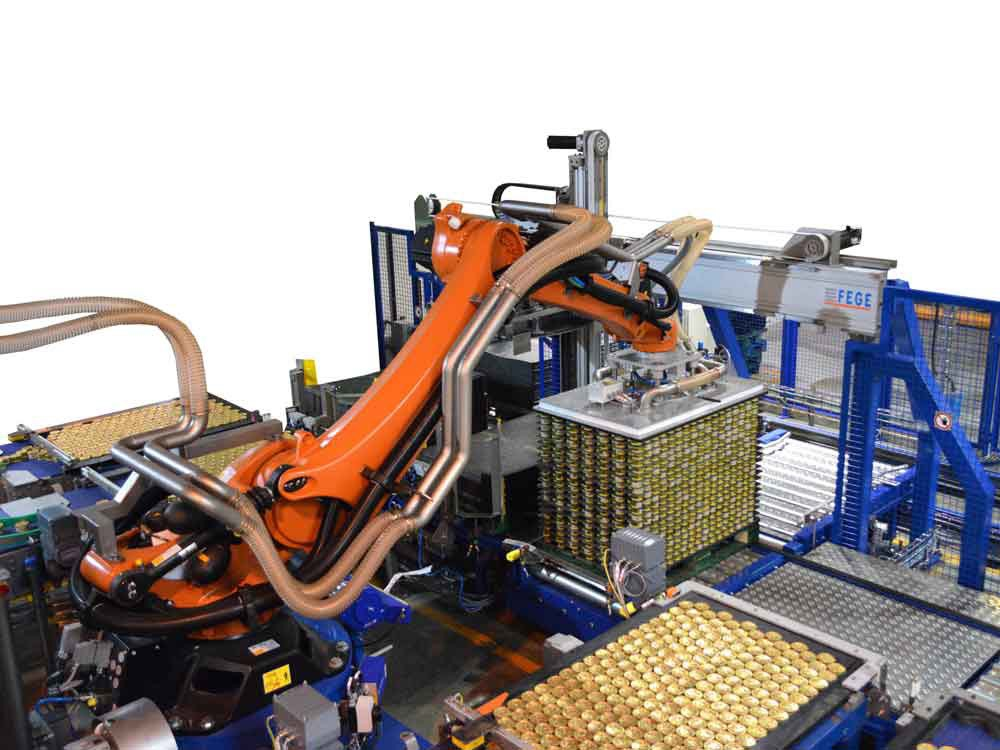 Robotic palletiser & ancillaries equipments